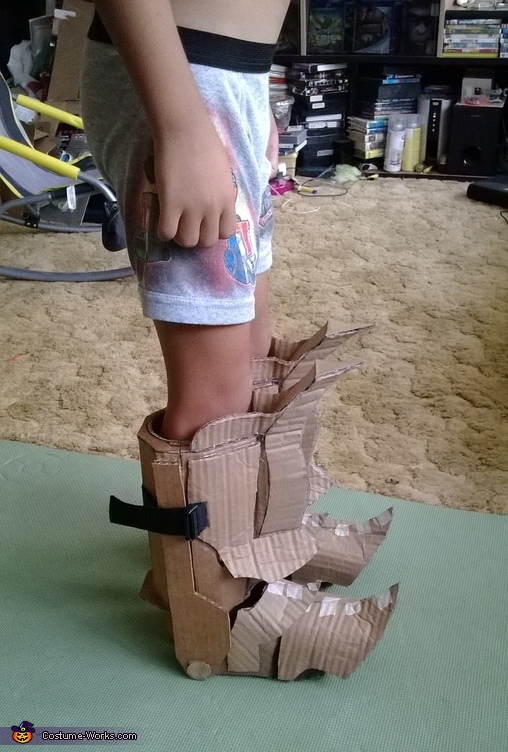 cardboard boots, Mech Samurai Warrior Costume