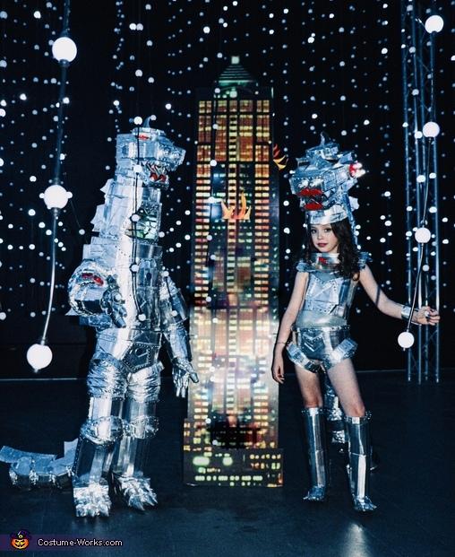 With his mecha Godzilla sister, Mechagodzilla Costume
