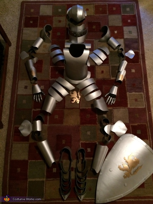 All the Pieces - Tin Man, Medieval Knight Suit of Armor Costume