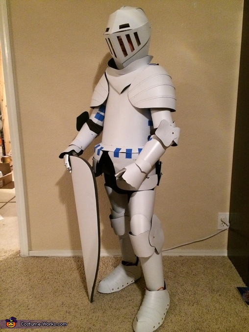 Test Fit (Kinda Looks Like a Stormtrooper), Medieval Knight Suit of Armor Costume