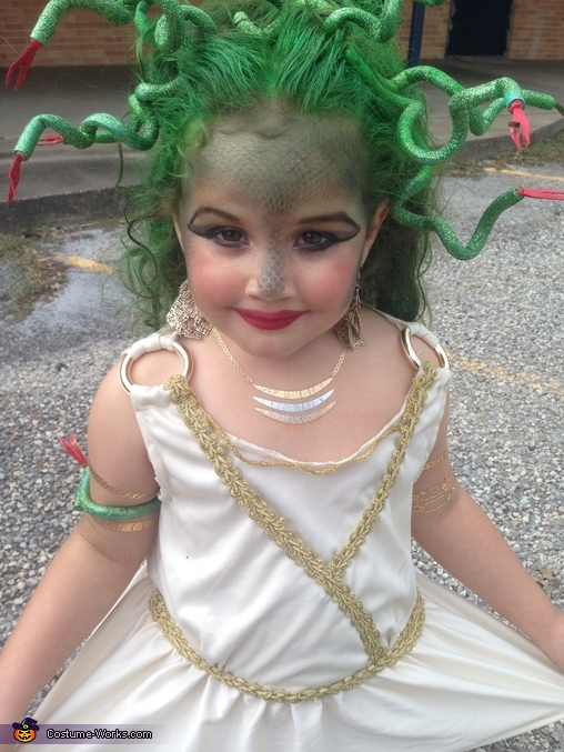Medusa Girl's Homemade Costume