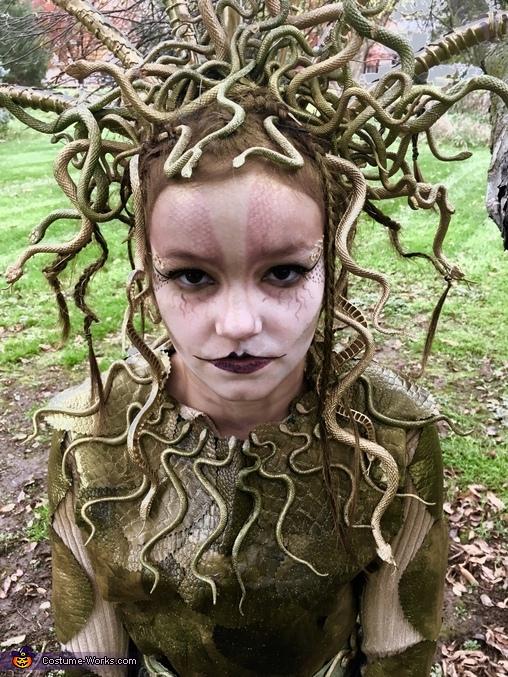 Medusa makeup, Medusa Costume