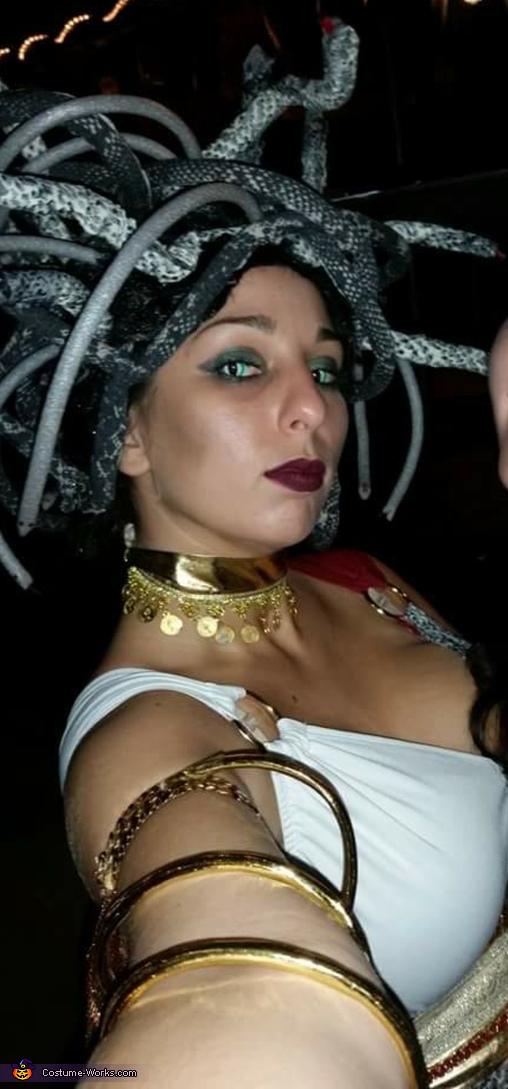 Homemade Medusa Adult Costume