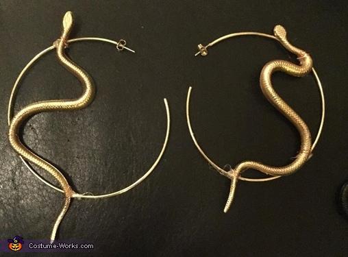Snake earrings, Medusa Costume