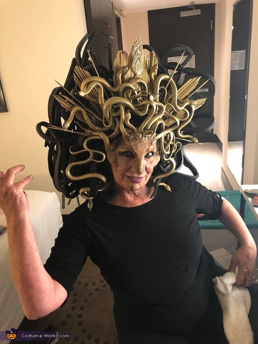 Getting Ready, Medusa Costume