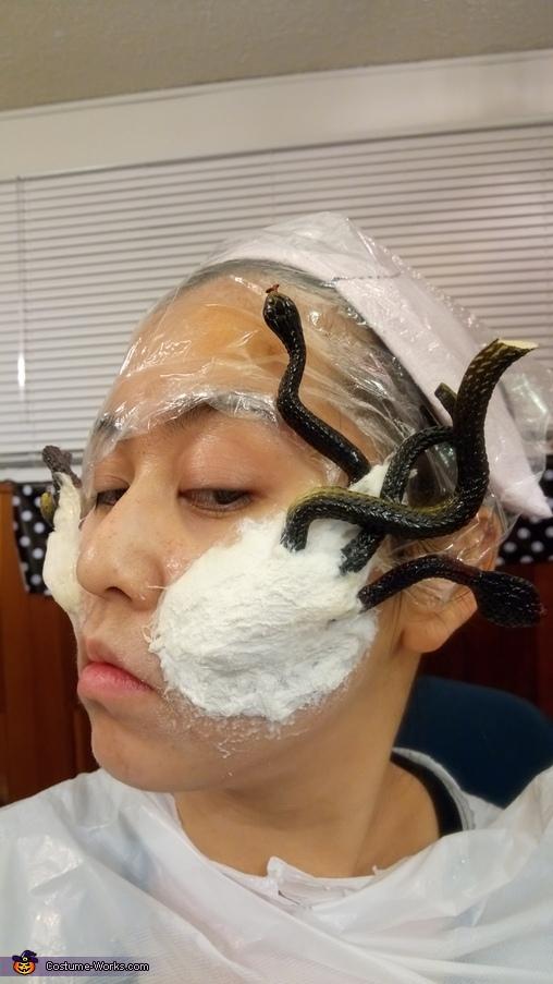 making prosthetics, Medusa Costume