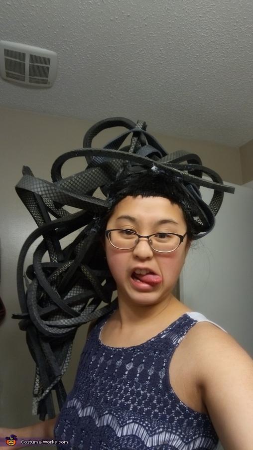 Making the Hair, Medusa Costume