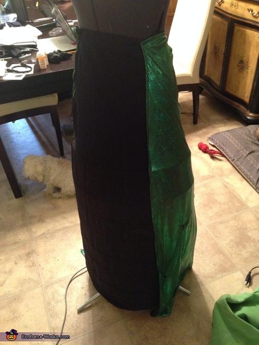 hoop skirt completed, Medusa Costume