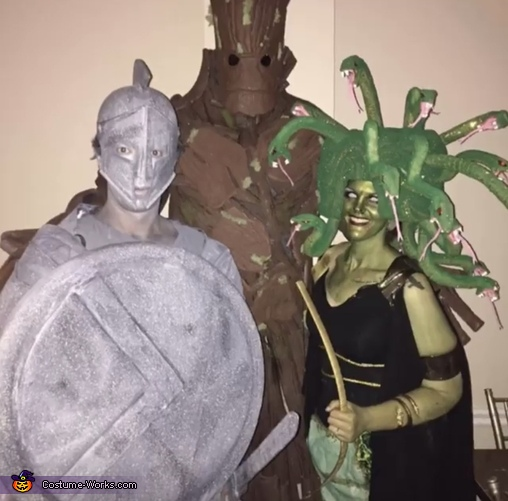 Medusa and her Stone Soldier Homemade Costume