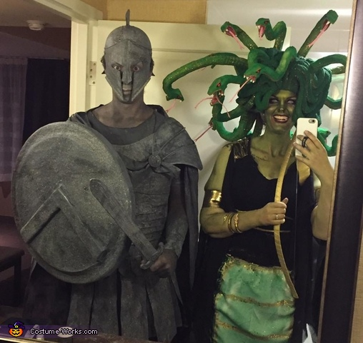 Medusa and her Stone Soldier Costume