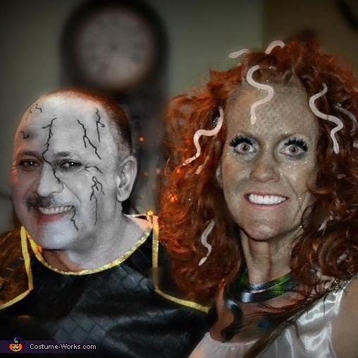 Medusa and Stone Man Couple Costume