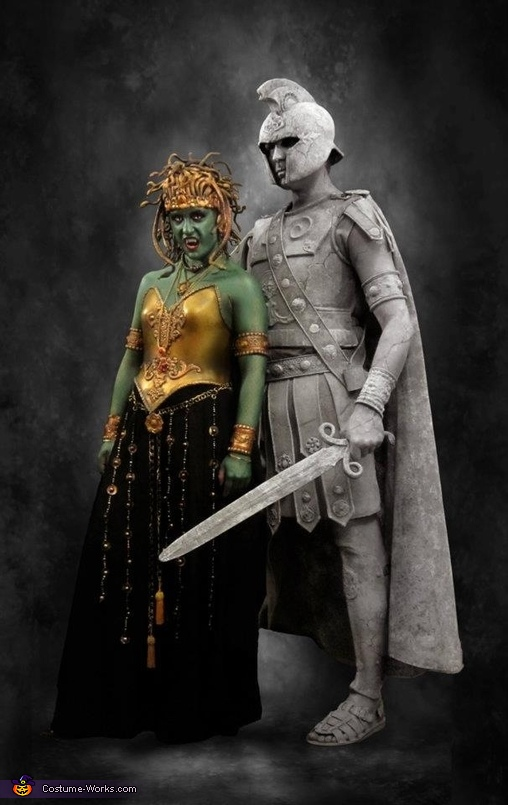 Medusa and Stone Soldier Costume