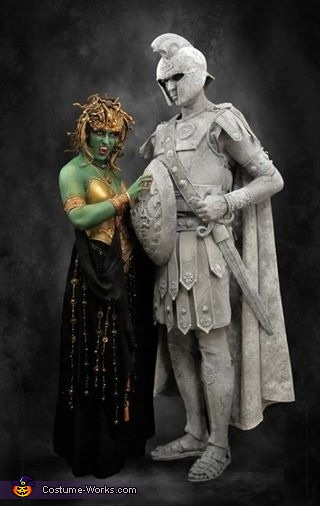 Medusa and Stone Soldier Homemade Costume