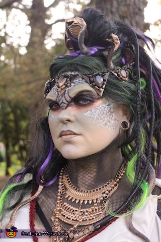Medusa Head, Medusa and the Stone Warrior Costume