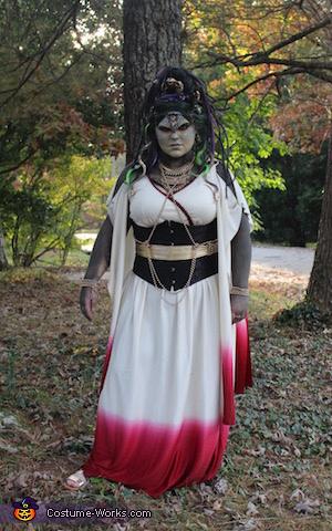 Medusa Front, Medusa and the Stone Warrior Costume