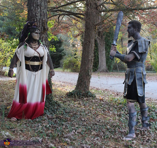 Look in to my Eyes, Medusa and the Stone Warrior Costume