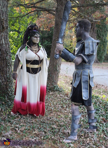 Turned the Stone, Medusa and the Stone Warrior Costume