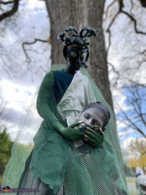 Medusa holding Head of Statue Homemade Costume