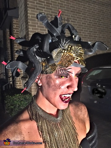 Medusa & her Victim Homemade Costume