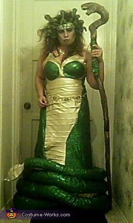 Medusa the Gorgon Costume  sc 1 st  Costume Works & Homemade Medusa the Gorgon Costume