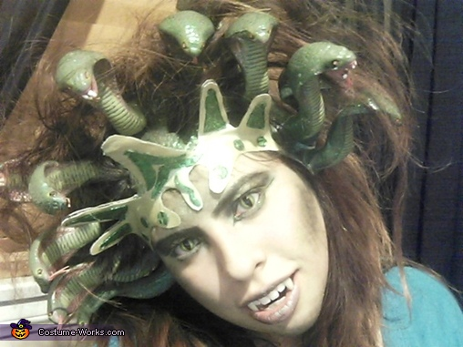 Homemade Gorgon Medusa Costume