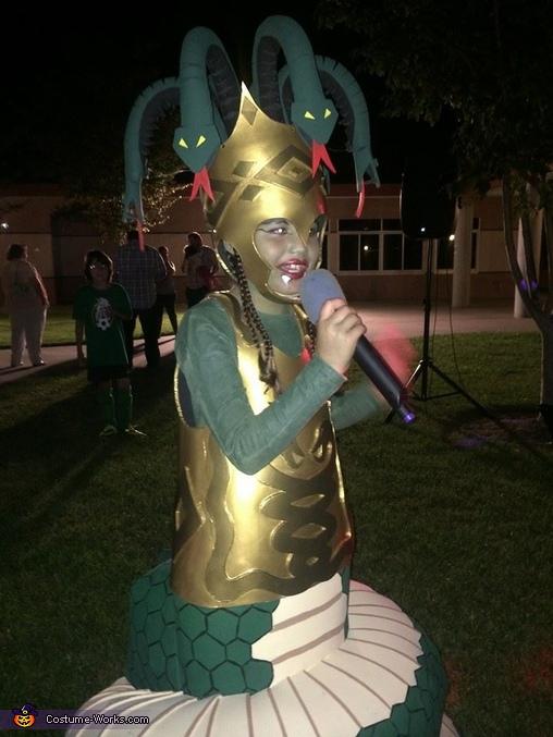 full costume , Medusa with Snake Body Costume
