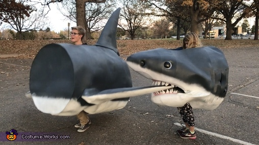 Shark just having fun, Megaladon Shark Costume
