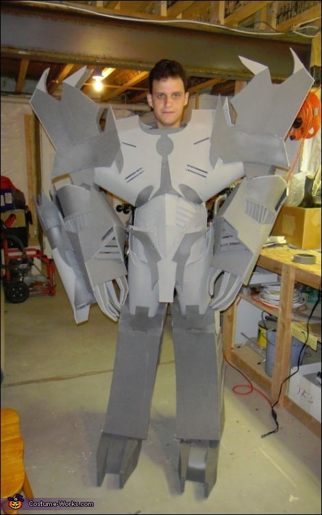 Before paint; proof that it's ME inside the costume, Megatron Costume