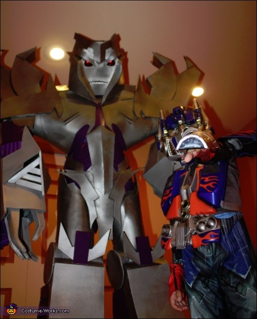 My son and I, Megatron Transformers Prime Costume