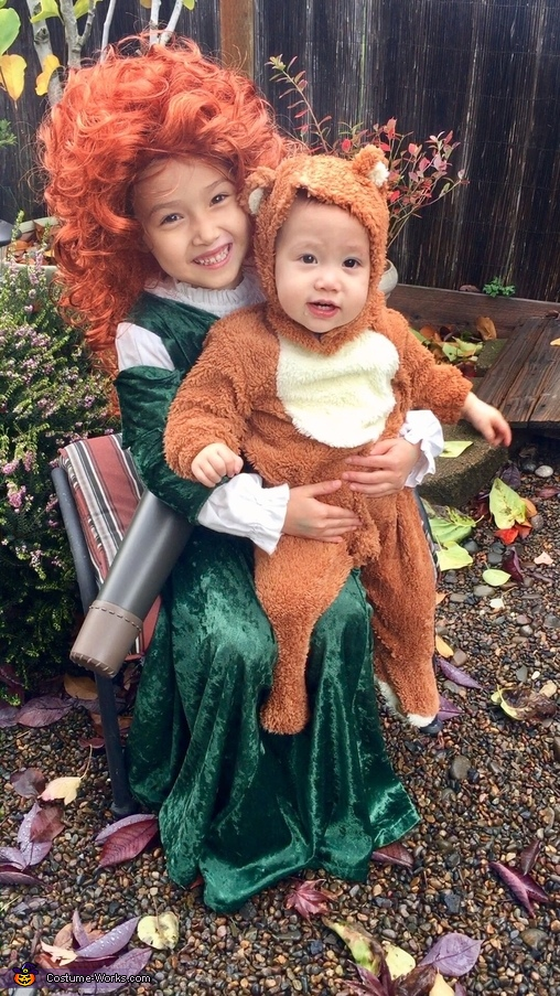 Little bear 'brother'  and Merida, Merida's Family from Brave Costume