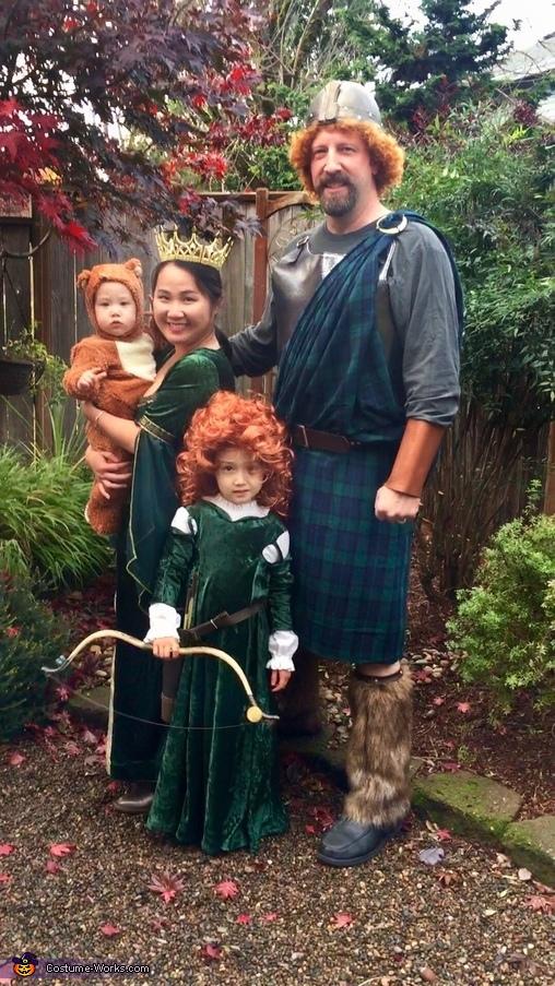 Merida's Family Homemade Costume