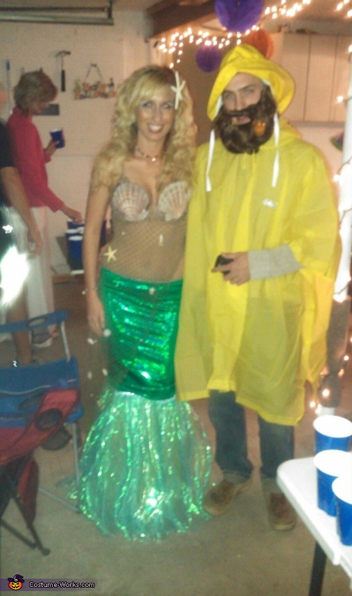 Mermaid and Fisherman Couple Costume