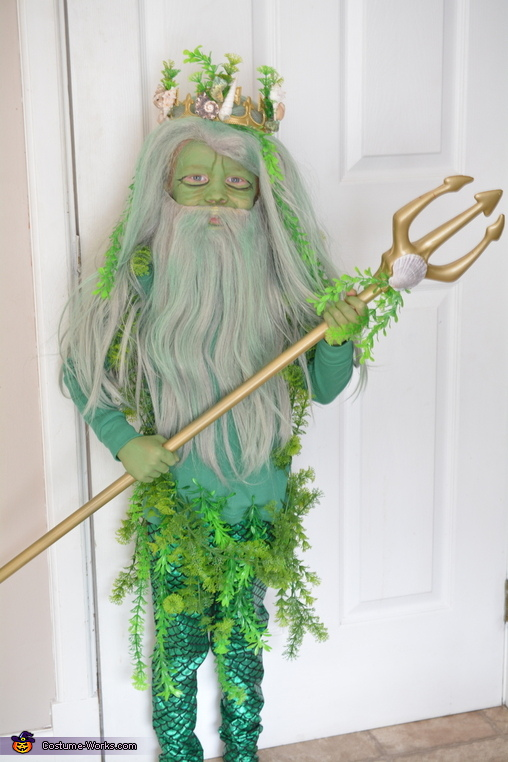Mermaid and Poseidon Homemade Costume