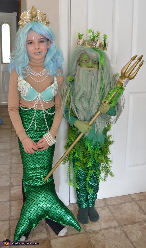 Mermaid and Poseidon Costume