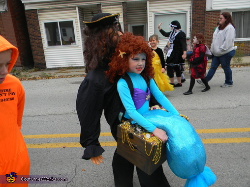 Mermaid captured by a Pirate Homemade Costume