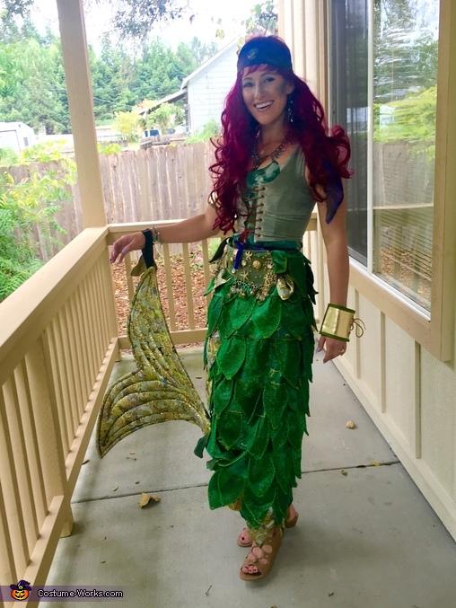 Ariel, Mermaid Goddess Athena Costume