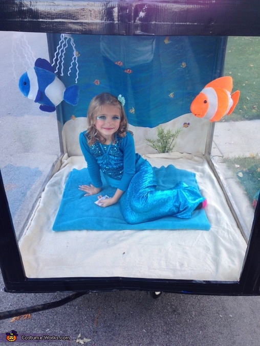 Mermaid in Aquarium Costume