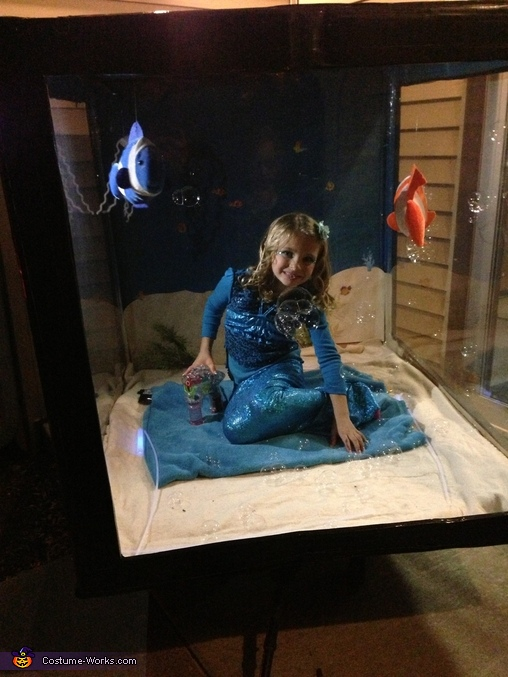 Mermaid in Aquarium Homemade Costume