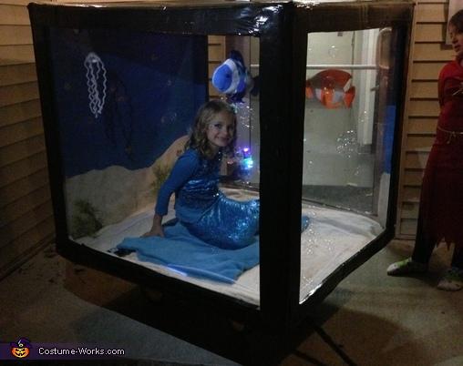 Mermaid in Aquarium Homemade Costume