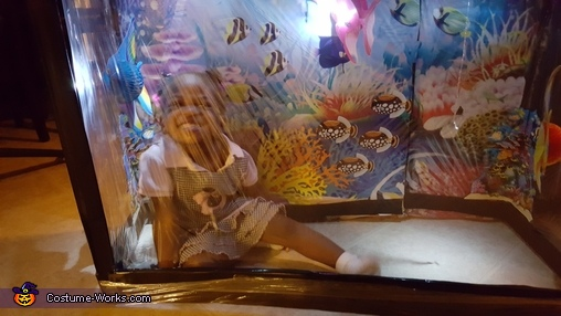 DIY Mermaid in Aquarium Costume