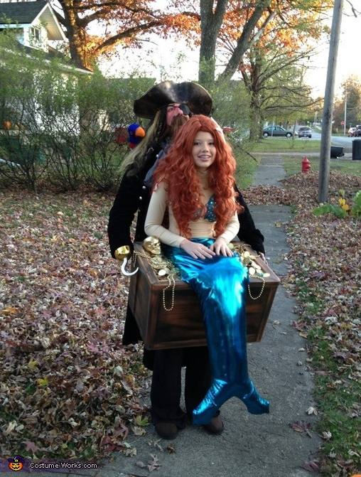 Mermaid in Pirate's Treasure Chest Costume