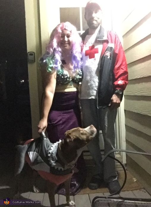 Mermaid, Lifeguard & Shark Costume