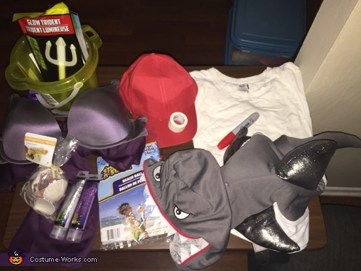 Costume making supplies, Mermaid, Lifeguard & Shark Costume