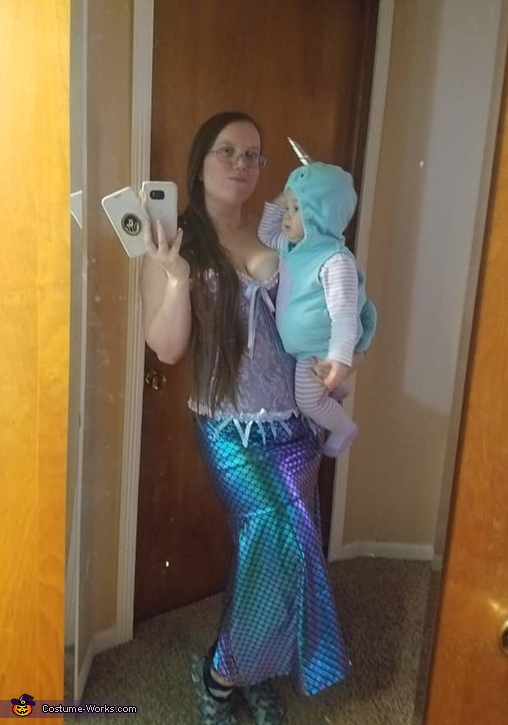 Mermaid & Baby Narwhal Costume