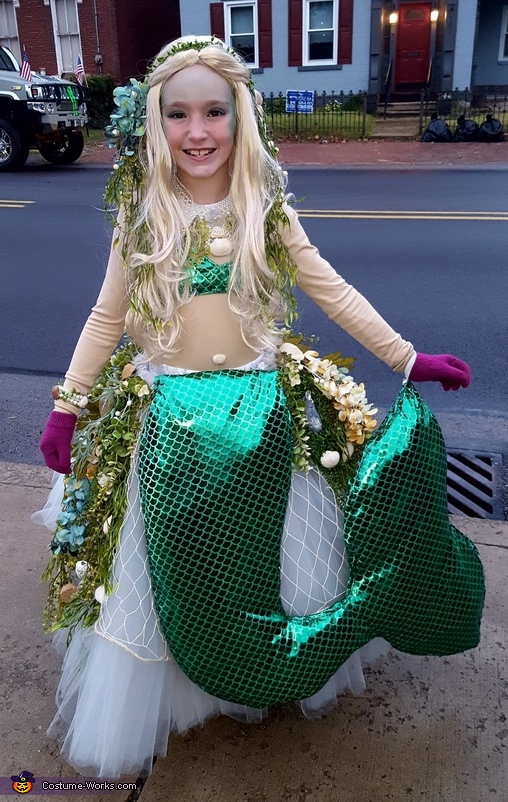 Mermaid on a Rock Costume