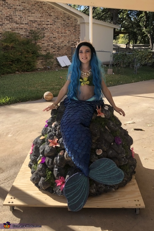 Mermaid on a Rock Costume