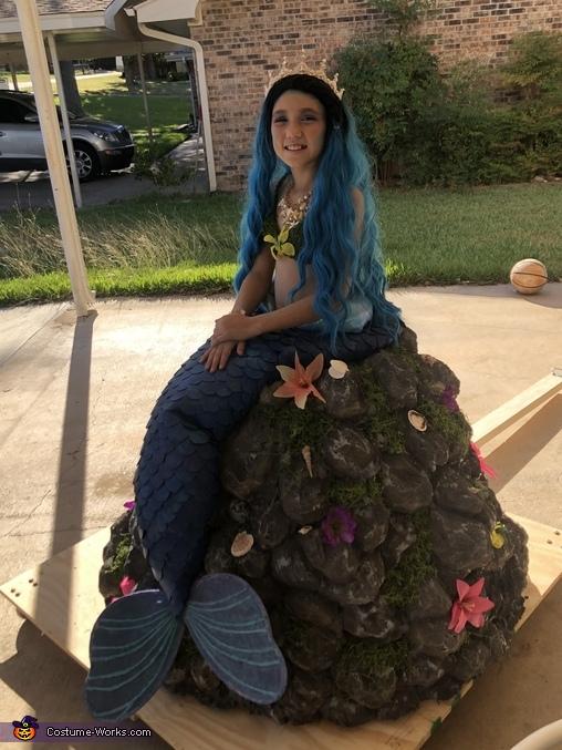 DIY Mermaid on a Rock Costume