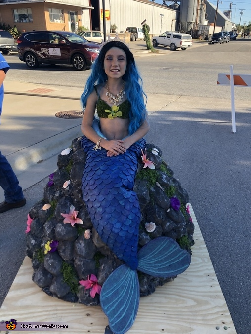DIY Mermaid on a Rock Costume