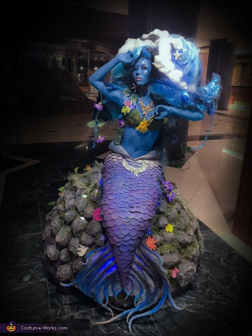 Mermaid on the Rocks Homemade Costume