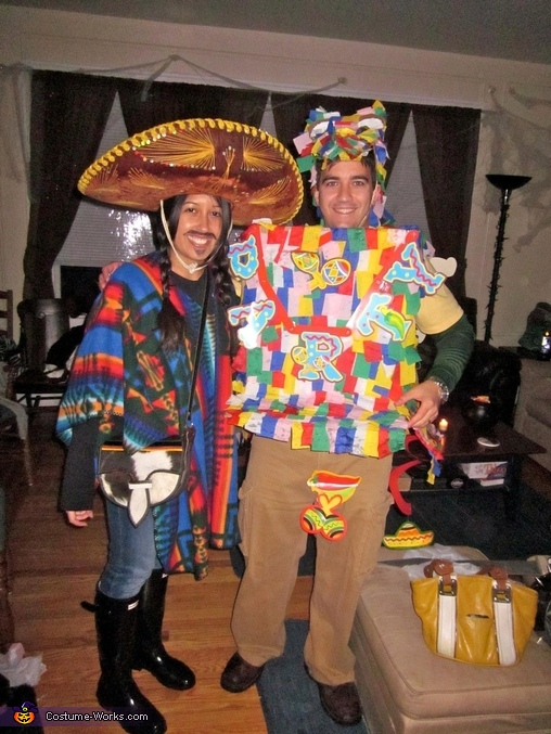 Mexican and Pinata - Homemade costumes for couples